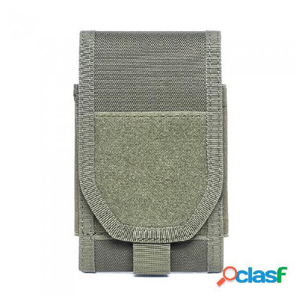 Bolso de almacenamiento táctico al aire libre del teléfono móvil bolso de deportes de múltiples funciones del velcro - verde del ejército