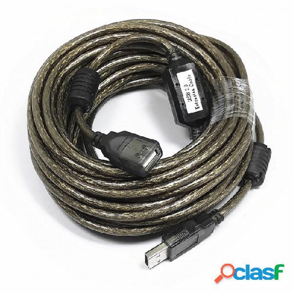Cable de extensión usb 2.0 de 480 mbps de alta velocidad con chip de amplificación de señal (10 m de longitud)