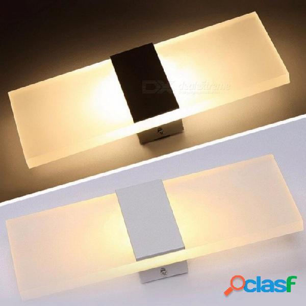 5w led lámpara de pared de acrílico aplique de pared lámpara decorativa lámpara de sala de estar dormitorio pasillo luz de pared ac 85265v