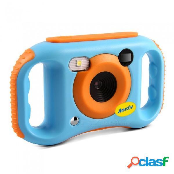 Amkov cde7, una cámara portátil de wi-fi para niños con pantalla lcd a color de 1,77 pulgadas, color azul