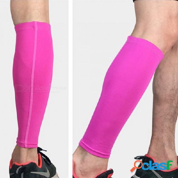 Corsé para correr bicicleta apoyo de rodilla rodillera, seguridad de deportes elásticos rodilleras manga legwarmer (1 pc) negro / m