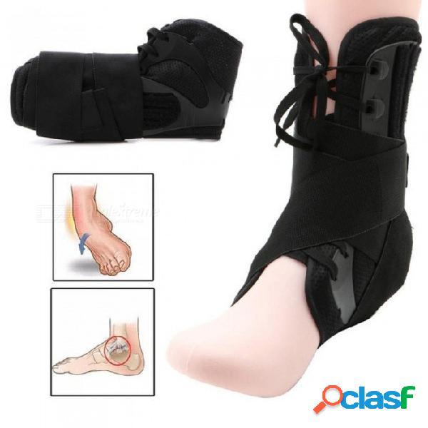 Soporte de tobillo deportes correas de tobillo ajustables soporte deportivo pie ajustable órtesis estabilizador protector de tobillo l / negro