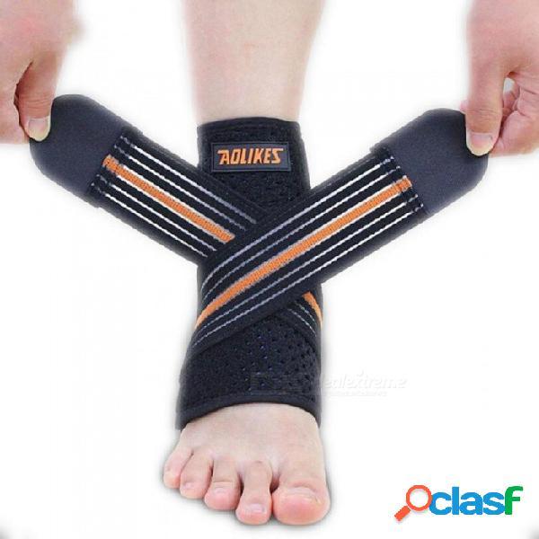 1 unids deporte protector de tobillo transpirable protector de tobillo ajustable almohadilla de apoyo protector elástico corsé soporte de fútbol de apoyo