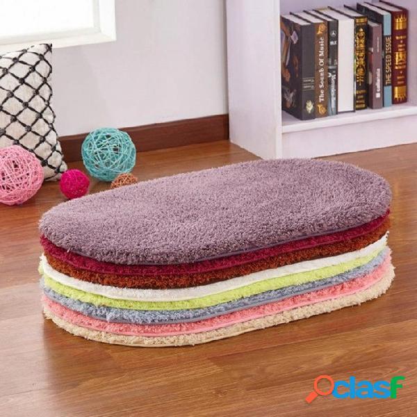 40x60cm antideslizante esponjoso área shaggy alfombra casa habitación alfombras alfombras dormitorio baño piso alfombras de puerta alfombras 50x80 cm / azul gris