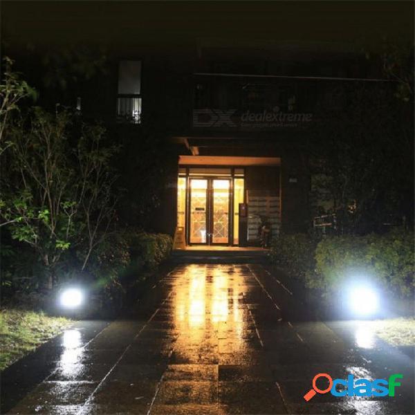 Luz solar 48 led lámpara de energía solar portátil patio de casa a prueba de agua iluminación exterior led luz de jardín solar camino lámpara de pared blanco