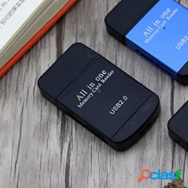 Multifuncional 4 En 1 De Alta Velocidad USB 2.0 TF / Micro SD / Lector De Tarjetas SD, Soporta Plug And Play Rojo
