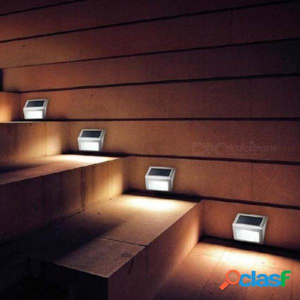 Acero inoxidable 3 led luz solar impermeable al aire libre jardín lámpara de energía solar ahorro de energía patio camino luces de pared 1-4pcs 3 unids