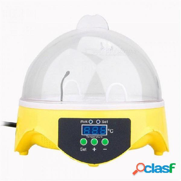 Mini 7 incubadora de huevos incubadora de aves de corral incubadora digital incubadora de huevos incubadora de huevos incubadora de huevos pollo pato paloma pájaro m / 110v o 220v