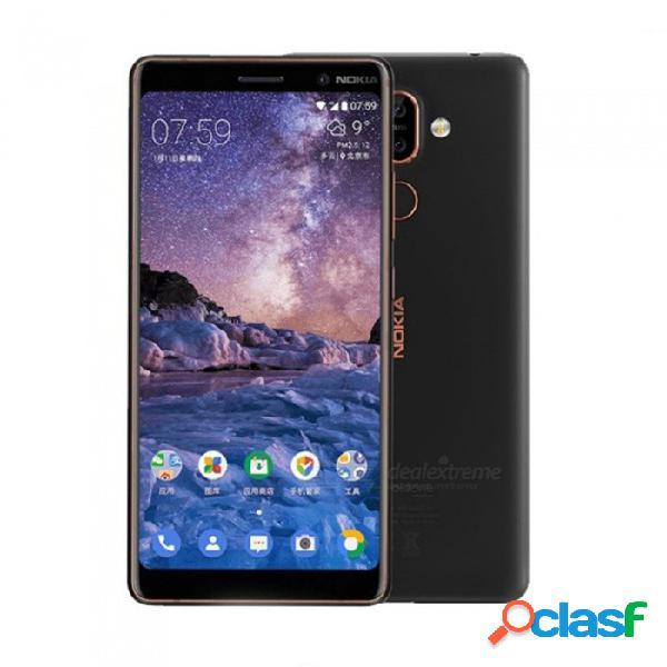 Nokia 7 plus android 8 snapdragon 660 octa-core 6.0 pulgadas 18: 9 con teléfono móvil con batería de 3800 mah, 6g ram 64g rom blanco
