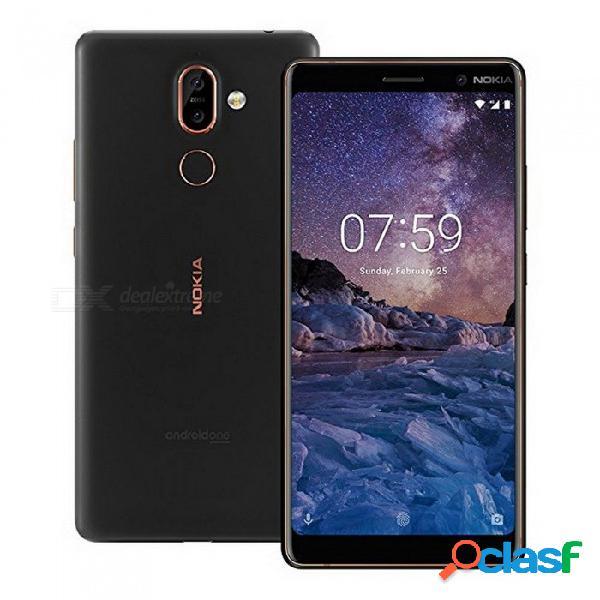 Nokia 7 plus android 8 snapdragon 660 octa-core de 6,0 pulgadas con pantalla de 18: 9 y un teléfono móvil con batería de 3800 mah, bluetooth v5.0 blanco