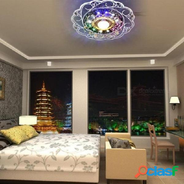 Práctico-3w led de cristal de loto luz de techo lámpara de descarga principal luz cálida auxiliar de luz colorida iluminación interior perfe lotus