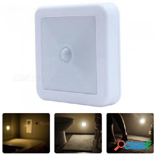 Sensor de movimiento ir luces de pared led luz nocturna luz de encendido / apagado automático con pilas para pasillo pasillo escalera cabecera blanco cálido