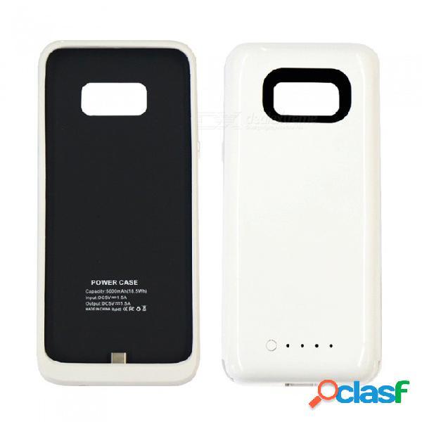 5v 5000mah batería externa / banco del poder de la emergencia externa montada delgada, caja del teléfono para samsung s8 - blanco