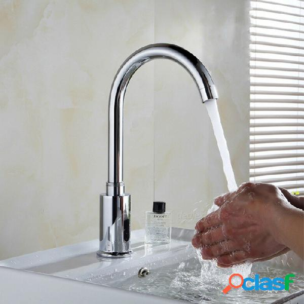 Grifo automático del sensor sensor infrarrojo grifo de ahorro de agua, baño de cocina inductivo grifo de agua, grifo de agua fría solo