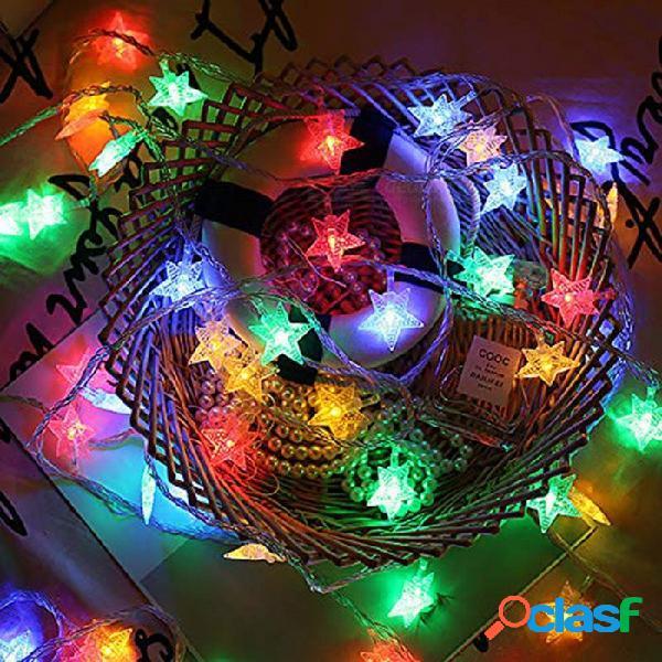 Luces de 4 led para luces de navidad de 9.84ft / 3m con alimentación por usb con 20 led (cambio multicolor) - blanco cálido