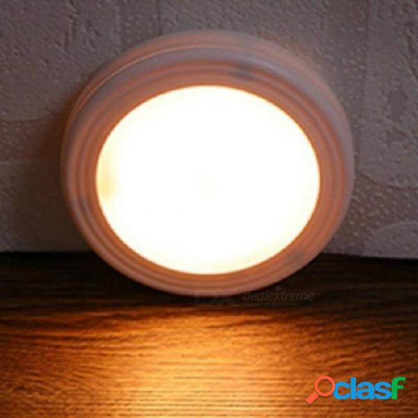 Luz de noche magnética con led sensor de movimiento recargable lámpara de pared inalámbrica encendido / apagado automático en la noche para inodoro pasillo camino escalera blanco cálido