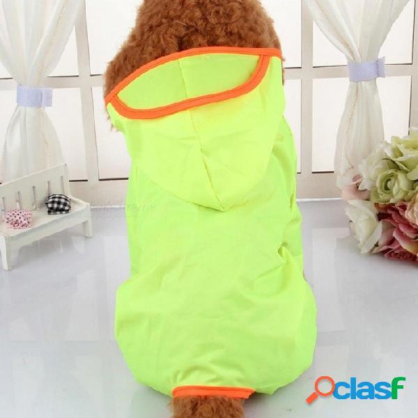 Ropa para perros impermeable para perros guardapolvos impermeables productos para mascotas poncho paraguas lluvia abrigos para chihuahua l / fluorescencia