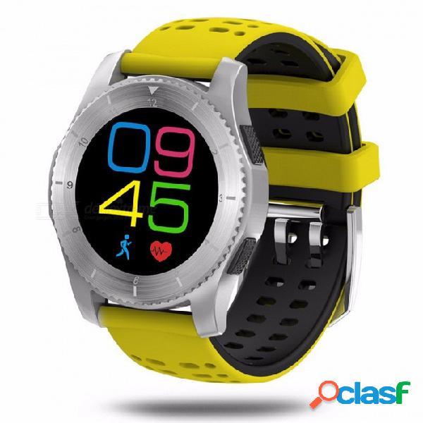 Senbono g8 smartwatchs bluetooth 4.0 rastreador de fitness tarjeta sim frecuencia cardíaca presión arterial reloj inteligente para android ios amarillo