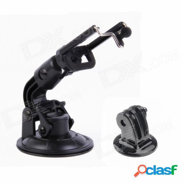Soporte de montaje de la taza de la succión del coche de 90m m para la cámara / dv / cellphone / gopro 4/2 / 3 / 3+ - negro