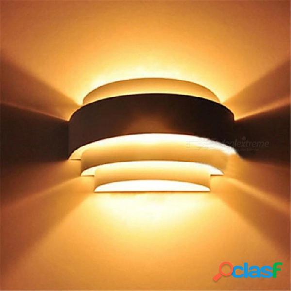 Aplique de pared moderno lámpara de pared led blanca luz ambiental iluminación empotrada luces de pared accesorios de baño luces para el hogar iluminación blanca cálida (2700-3500k)