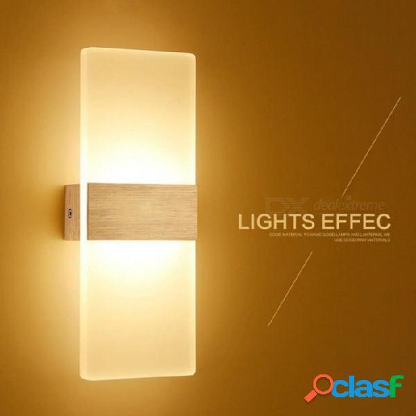 Apliques de pared led luces de aluminio lámpara de 3 / 6w luminarias decorativas encendidas / apagadas luz nocturna para el camino escalera dormitorio 14 * 6 22 * 11 29 * 11 blanco cálido (27