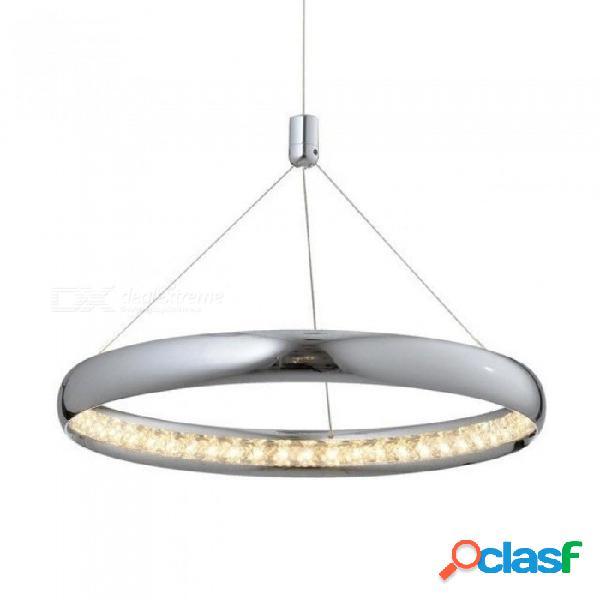 Araña de cristal moderna para el comedor lámpara colgante de luz led lámpara de cristal decoración del hogar lustres de cristal luz blanca cálida / dia35cm