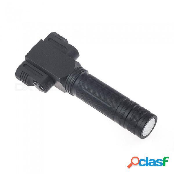 La linterna led recargable llevó la lámpara táctica del imán de la antorcha que acampaba del cree t6 + 2 * r5 que giraba con la batería 18650 blanca / negra