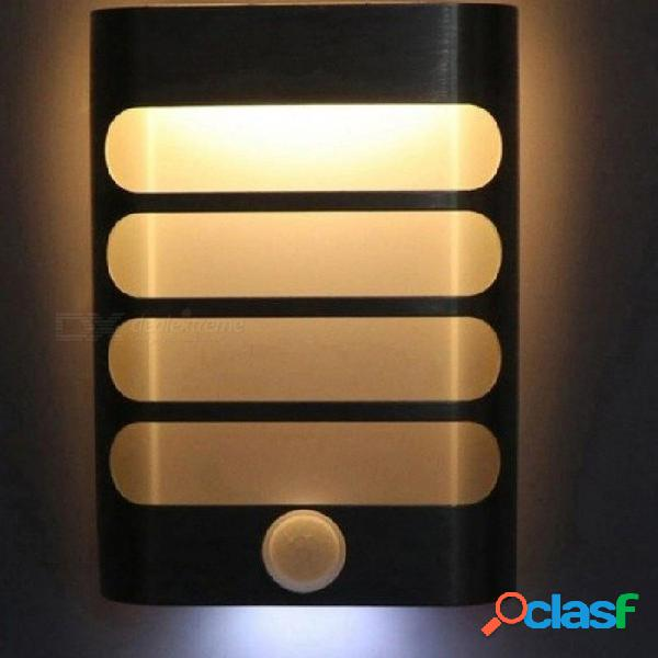 Luz nocturna recargable con sensor de movimiento led lámpara de pared inalámbrica nocturna auto encendido / apagado para niños pasillo vía escalera 18650 blanco cálido