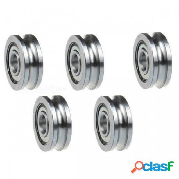 Piezas de la impresora de zhaoyao 5pcs / 3d, accesorios del extrusor rodamientos de la polea de la rueda de guía del surco, 4 x 13 x 4m m