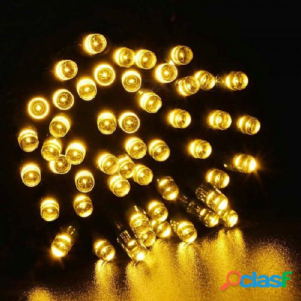 17m 100 led luz de tira led al aire libre con energía solar cadena de luz fiesta de navidad lámpara ip44 a prueba de agua árbol decoración navidad azul