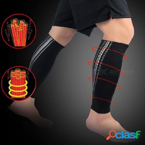 1 unids deportes becerro de enfermería capa protectora de la capa de base legwarmers compresión ciclismo medias manga de la pierna negro / m