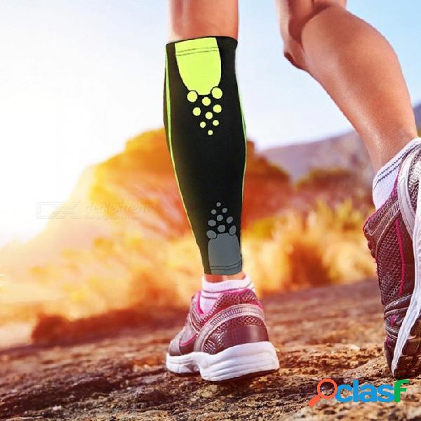 1 unids deportes de enfermería becerro equipo de protección hombres mujeres base capa de compresión más caliente pierna corriendo ciclismo medias pierna manga negro / m