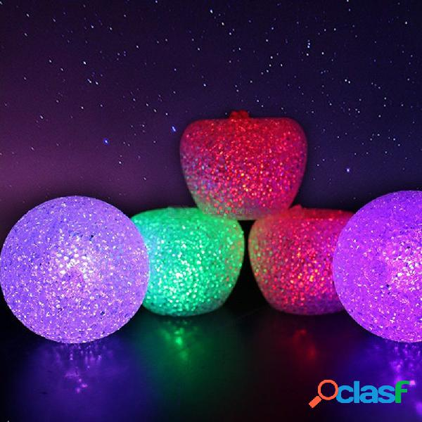 1pcs christmas eve gift creative light-emitting crystal colorful apple built-in button battery random color