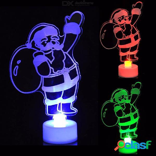 Nueva moda muñeco de nieve multicolor color led claro acrílico humor noche lámpara decoración navideña