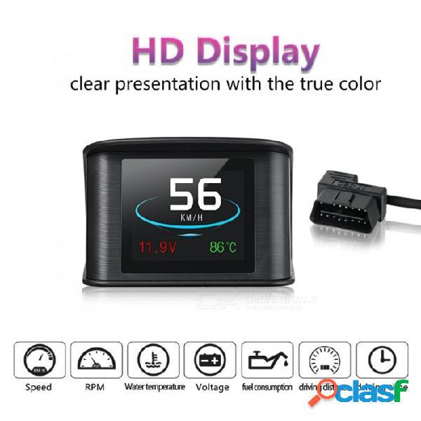 P10 pantalla de visualización de la cabeza del coche hud, velocímetro digital inteligente con puerto obdii / euobd, velocímetro de pantalla led