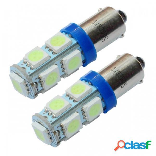 Sencart ba9s 1.8w 108 ~ 126lm 537 ~ 540nm 9-smd 5050 luz led azul clara para automóvil - (dc 12 ~ 16v / 2 pcs)