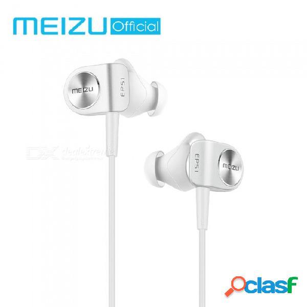 Auriculares bluetooth inalámbricos originales meizu ep51, auriculares estéreo deportivos a prueba de agua estéreo apt-x con micrófono