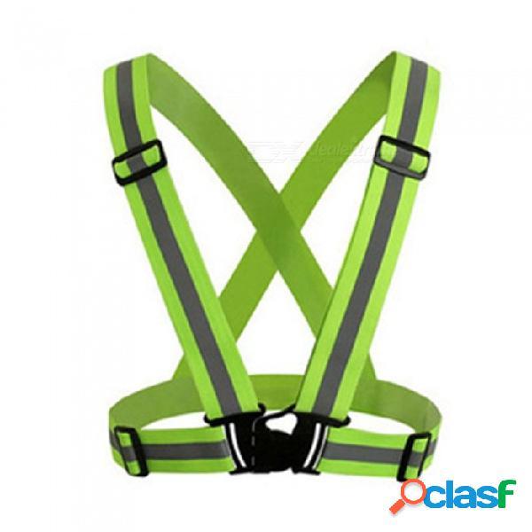 Cinturón reflectante de seguridad de neón de 360 grados de alta reflectante adecuado para correr ciclismo deportes ropa exterior naranja