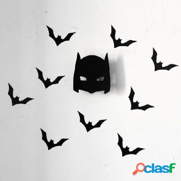Fresco hombre murciélago ropa de madera gancho para niños habitación pared decorar habitación de niños ecológico suspensión, gancho negro hombre murciélago