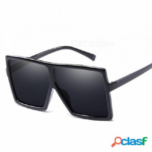 Gafas de sol de gran tamaño mujeres gafas de sol de gran tamaño hombres marco transparente vintage grandes gafas de sol retro hembra hombre