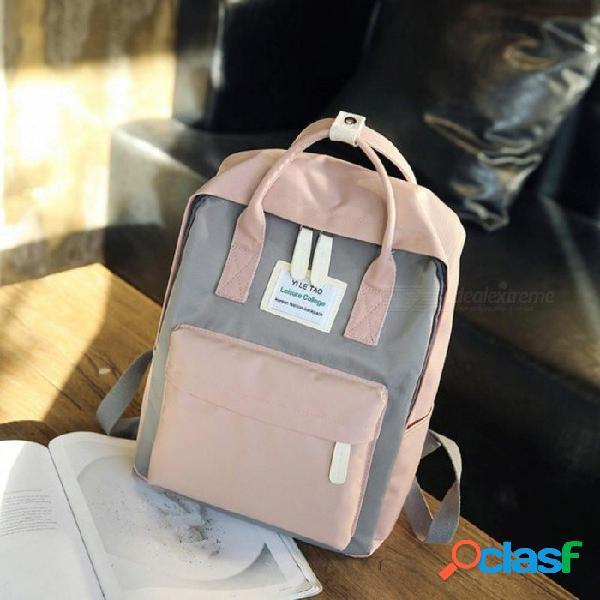 Mochila multifuncional de las mujeres mochila de moda estilo coreano mochila portátil mochilas escolares para niñas adolescentes viajan l27 w12 h36 cm / negro