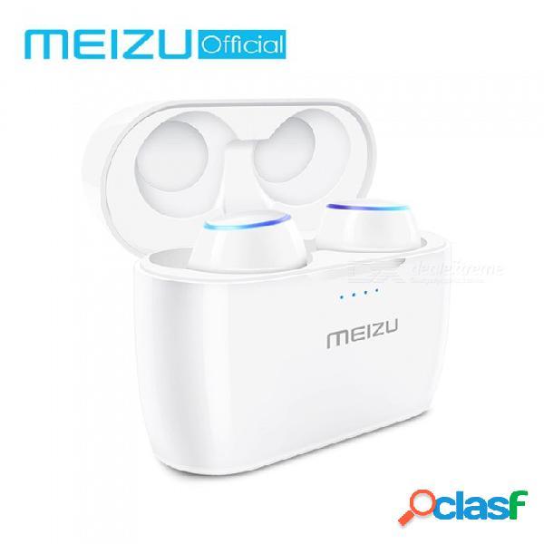 Original meizu pop tw50 auricular inalámbrico dual bluetooth, audífonos intrauditivos deportivos, auriculares a prueba de agua con caja de carga inalámbrica
