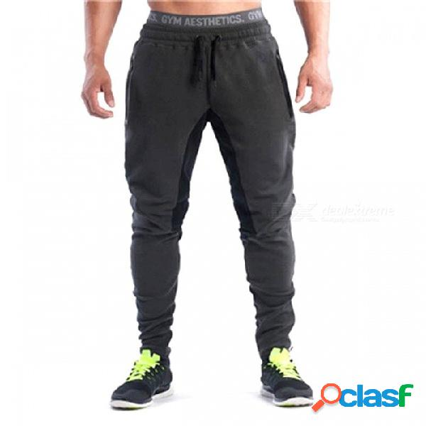 Pantalones deportivos de los hombres de detectores pantalones de ropa deportiva pantalones de marca de ropa de fitness ropa pantalones para gimnasio, corriendo xxl / gris