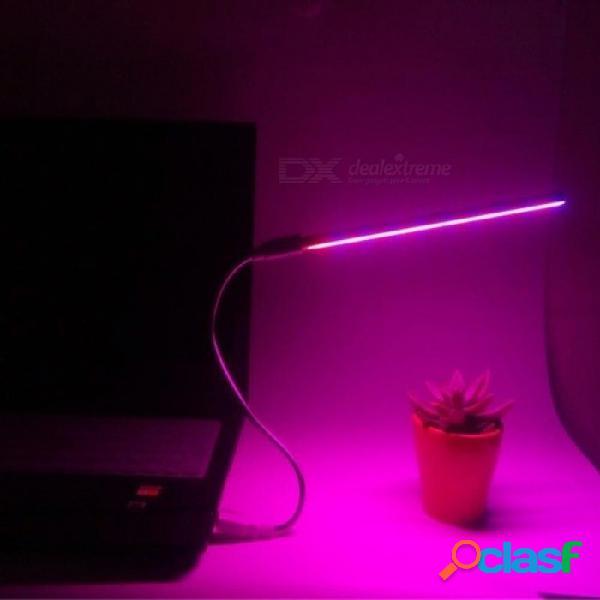 Usb led crece la luz uv ir usb 5w 3w espectro completo hidropónico escritorio interior dc 5v artículo barra de crecimiento de la lámpara crece led tipo a