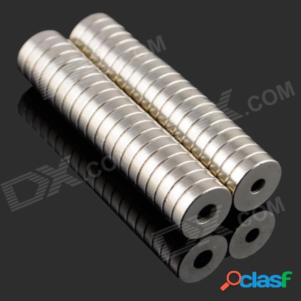 8 x imán de neodimio ndfeb de 3-3mm cilindro circular conjunto de rompecabezas diy - plata (20 piezas)