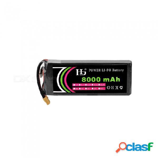 Hj 14.8v 8000mah 4s 25c batería de iones de litio xt60 para máquina de protección de plantas con varios ejes.