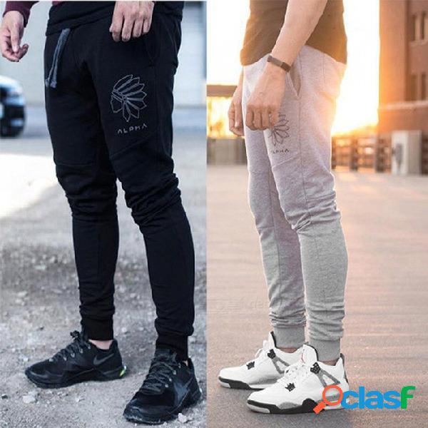 Hombres jogging pantalones para hombre corriendo pantalones hombres fitness gimnasio polainas pantalones deportivos mens fútbol soccer entrenamiento deportivo pantalones xxl / 39 gris oscuro