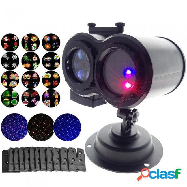 Youoklight lámparas de césped LED al aire libre proyector de puntos láser 12 tarjetas luz de fiesta navidad luces de copo de nieve us enchufe EE. UU.