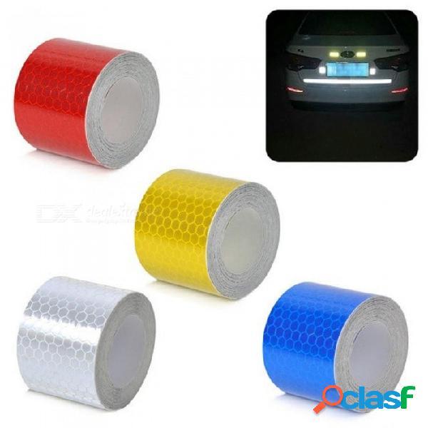 3 m * 5 cm tiras reflectantes calcomanías para automóviles decoración de motocicletas automóviles marca de advertencia de seguridad car-styling blanco
