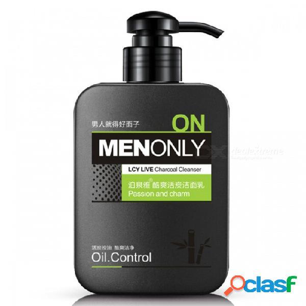 Limpiador facial de hombres aceite de control limpieza profunda exfoliante cuidado de la piel limpiador blanqueamiento acné espinilla limpiador exfoliante poro limpieza